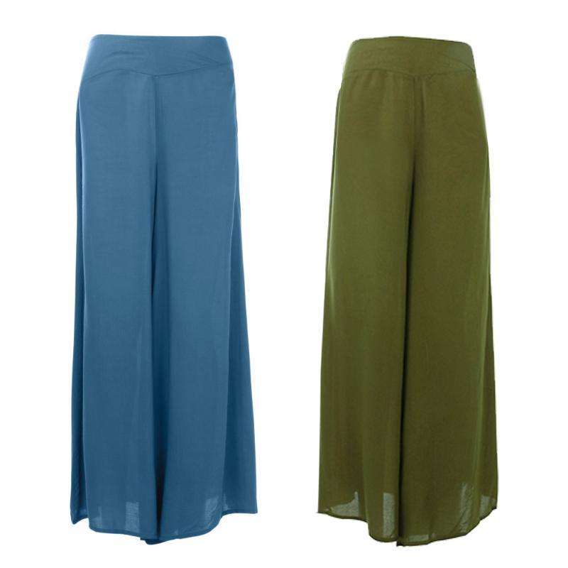 2018 New Summer Plus Size Solid Ladies Dress Pants Vintage Loose