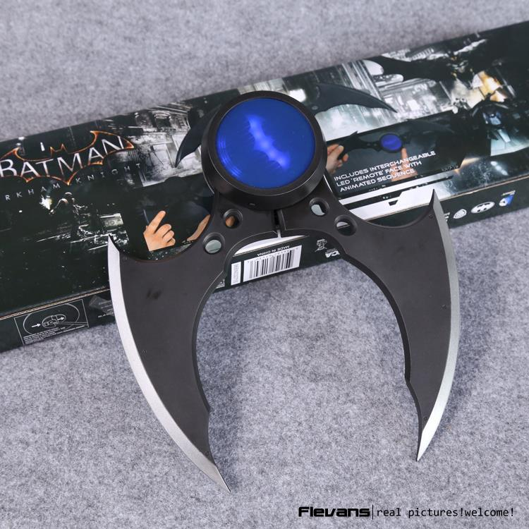 NECA DC Comics Batman Arkham Knight Batarang Replica Action Figure with Light Collectible Model Toy neca dc comics batman arkham origins super hero 1 4 scale action figure