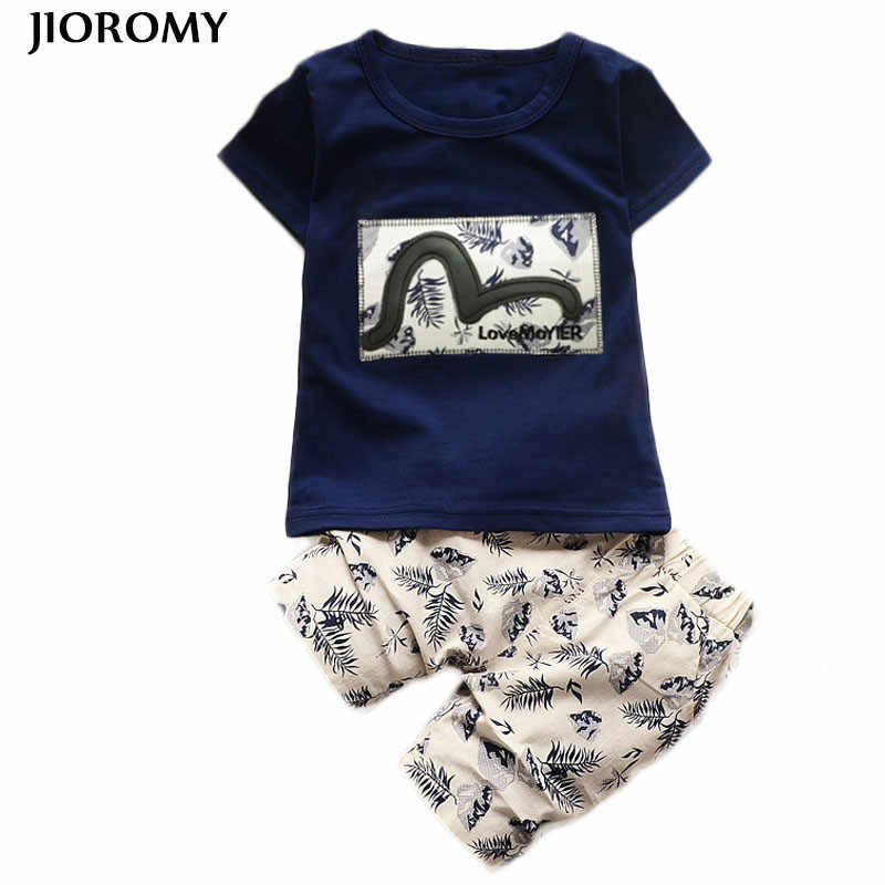 9ed126b368e JIOROMY Kids Boys Clothing Sets 2018 Summer Kids Clothes for Boys Fashion T- shirt +