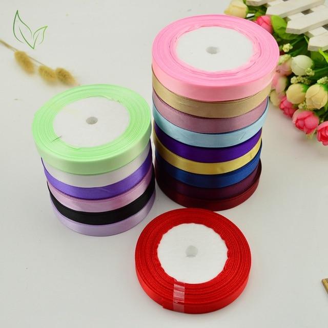 10mm 25 yards Silk satin ribbons wholesale, wedding decorative ribbons,Prty Sewing Christmas gift wrap,DIY handmade materials
