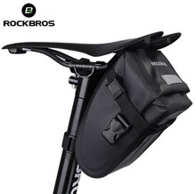 Rockbros Bicyce Waterproof Saddle Tail Bag Road Mountain Folding Bike Rear Frame Bag Cycling Seatpost Bag Bicycle Accessories