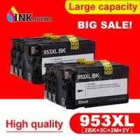 INKARENA 953XL 2 Pack Para HP 953 XL BK C M Y Cartucho de Tinta Completo Para HP OfficeJet Pro 8210 8720 8730 8740 8710 Impressora de P55250dw