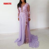 FADISTEE New arrival elegant party evening dresses Long prom formal dress bling beads luxury lace long transparent sexy gown