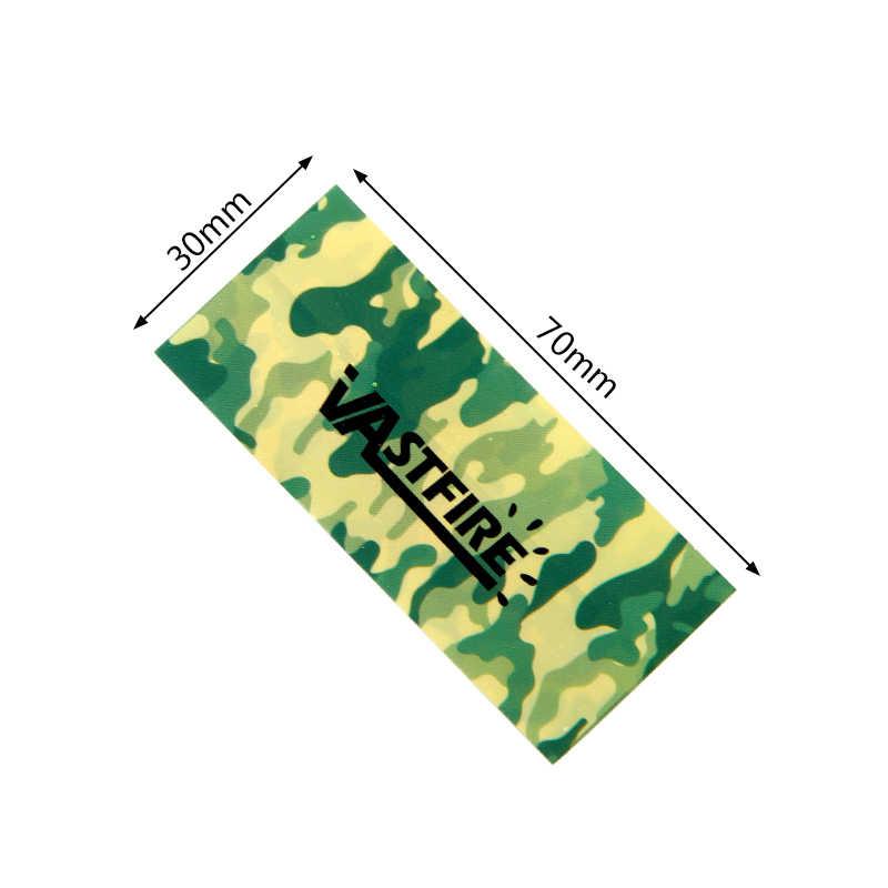 10 pçs/lote 18650 bateria envolvente adesivo camuflagem estilo tubo envoltório psiquiatra isolador pvc protegido capa pele decoração conjunto