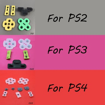 1 set For Sony PS2 PS3 PS4 Controller D-Pad Silicon Conductive Rubber Pads for Playstation 4 3 2 silicone conductive pad kit replacement for sony ps4 playstation 4 controller