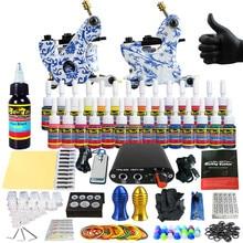 Solong Tattoo Complete Tattoo Kit for Beginner Starter 2 Pro Machine Guns 28 Inks Power Supply Needle Grips Tips TK204-32