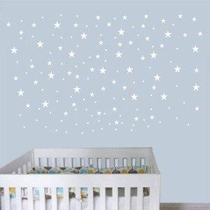 Image 3 - 50 sztuk/opakowanie Mutiple rozmiar naklejka ścienna w kształcie gwiazdy Art złota gwiazda naklejki wymienny gwiazdy dziecko wystrój żłobka gwiazdy ściany naklejki P2 C