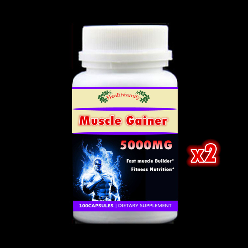 2 bottle 200pcs, Fast Add Muscle Formula Muscle Gainer Fitness Whey Protein Nutrition Supplement Increase Weight,High Quality цена