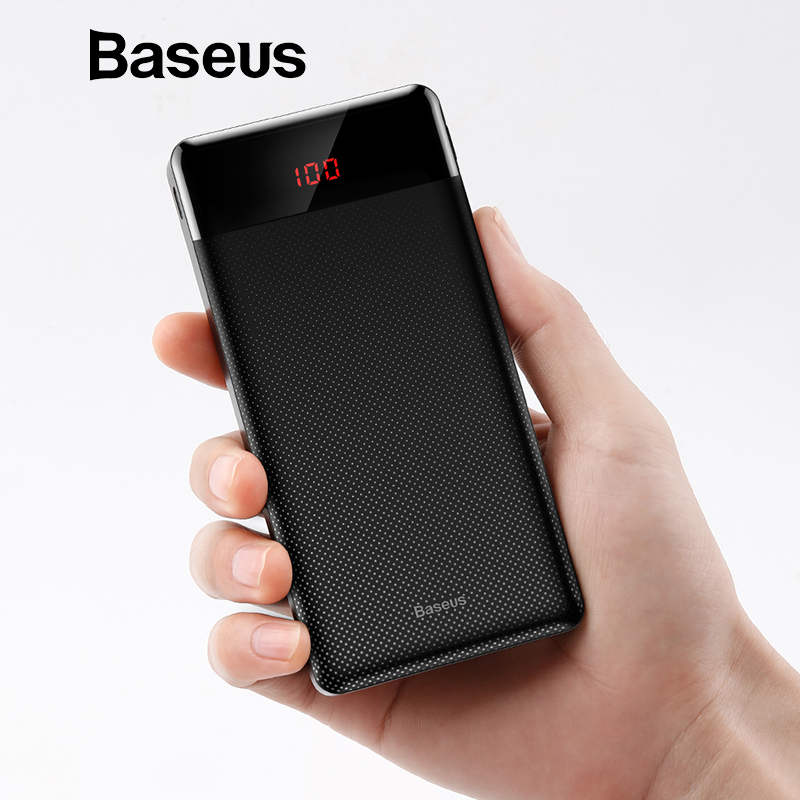 Baseus 10000 mah Power Bank Für Xiaomi Samsung iPhone Huawei Power Tragbare Mini Dual USB Lade Externe Batterie Pack Bank