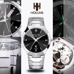 Image 5 - レロジオ masculino 2020 holuns タングステン鋼男性は石英ブランドの高級カジュアルダイヤモンド男性腕時計ドレス防水