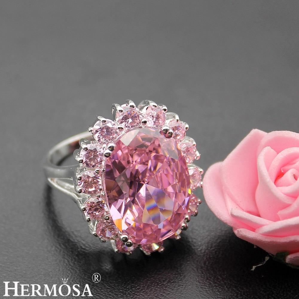 Hermosa Jewelry Oval Shiny Huge Pink Kunzite 925 Sterling Silver ...
