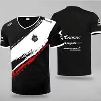 Настроить игровая Лига Легенд G2 команда esports костюм 2019 с коротким рукавом Игра LOL G2 Джерси футболка Повседневная Униформа топы тройники