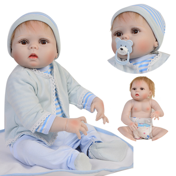 """Reborn bebe muñeca 23 """"57 cm de silicona completa reborn baby boy dolls regalo impermeable boneca reborn menino niño juguete muñecas bb renacer"""