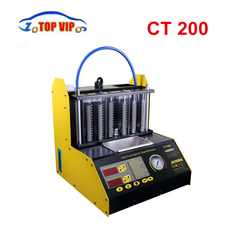 2018 DHL gratuit Original Autool CT200 voiture moto Auto ultrasons injecteur testeur de nettoyage Machine 220/110 V 2 options