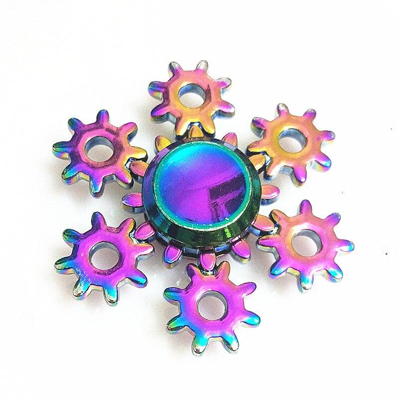 038 Hohe Qualität Zappeln Spinner Metall Regenbogen Drachen Hand Finger Spinner Autismus Adhs Fokus Angst Entlastung Stress