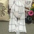 Mujeres de la manera Larga de Las Señoras Caliente Plaid Pashmina Bufanda Envuelve el Mantón Poncho Cuello de La Estola 2016 Nuevo Otoño Feminino 80*180 cm