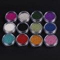 Novo 12 Cores (12 Garrafas/Set) Mini Círculo Caviar Miçangas Da Arte Do Prego Decoração de unhas 3D decorações de Unhas ferramentas de arte suprimentos MJ32054