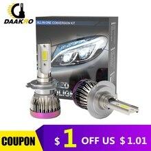 2PCS ไฟหน้ารถ Mini โคมไฟ H8 H9 H11 9005 H1 H7 หลอดไฟ LED ไฟหน้า 6000k หมอก 12V 8000LM หัว Light Custom Made