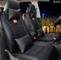 Para VW Volkswagen Polo Golf Passat Tiguan Jetta cojín de cuero de la marca negro/brown Cubierta de Asiento de Coche Frontal y asiento trasero completo