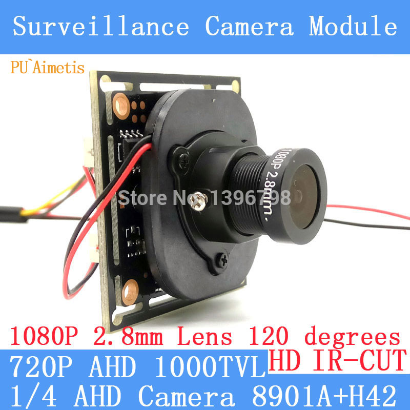 PU`Aimetis HD 1000TVL AHD CCTV Camera Module 1080P 2.8mm Lens surveillance cameras IR-CUT dual-filter switch BNC / OSD cable 1200tvl ahd camera module 960p 1 3mp cctv pcb main board nvp2431h t151 3mp12mm lens ir cut surveillance cameras ods bnc cable