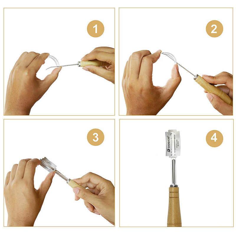 Формы для выпечки Формочки Для Выпечки из нержавеющей стали Высококачественный Нож для теста резак с 4 шт. сменным лезвием для выпечки