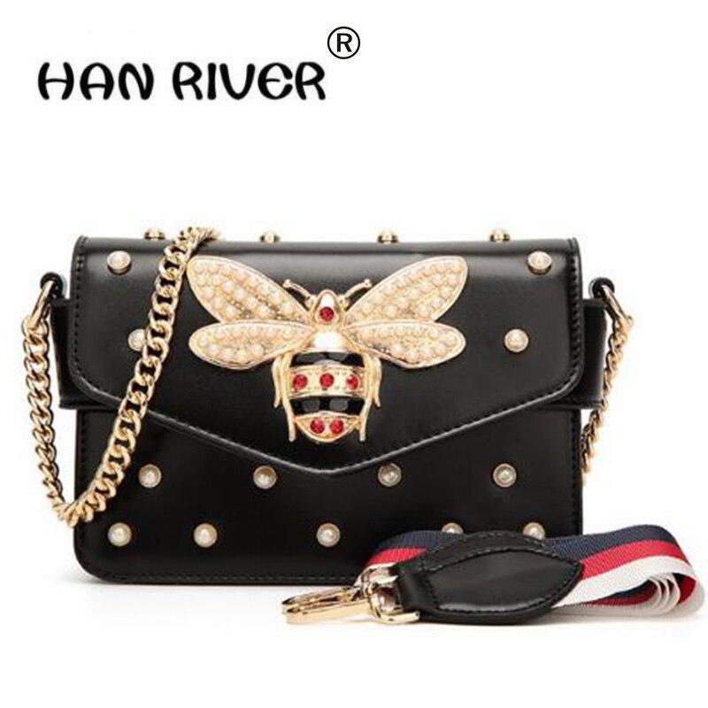 HANRIVER Women Messenger Bag Brand Style PU Leather Female Shoulder Bag Luxury Diamond Design Women Handbag New Fashion Bags