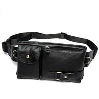 LHLYSGS Men Retro Genuine Leather Waist Bag Cowhide Pockets Belt Bag Multifunctional Coin Purse Phone Organizer Waist Pack
