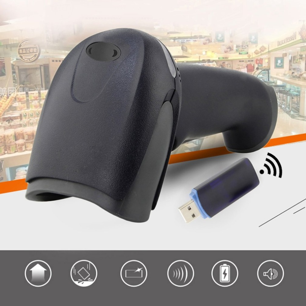 New 433MHz Wireless Laser Barcode Scanner Reader Memory Up To 500M Distance Free Shipping