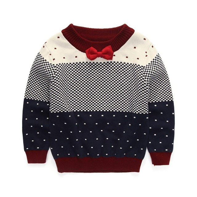 2016 new Summer Girls Kids boys Jacquard gentleman bow tie hedging sweater comfortable cute baby Clothes Children Clothing 5W