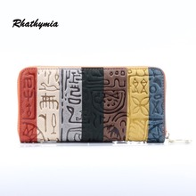 2016 brand Female clutch Genuine Leather Long Design Women Wallets coin purses holders dollar price wallet and purse carteras