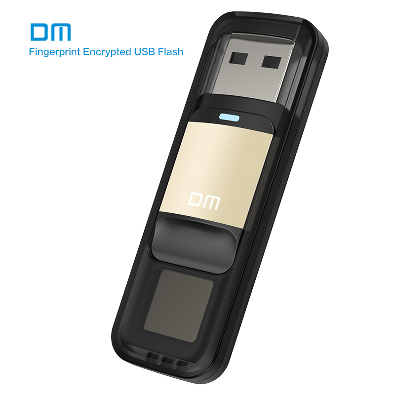 Free shipping DM PD061 32GB 64GB High speed Recognition Fingerprint Encrypted Pen Drive Security Memory USB