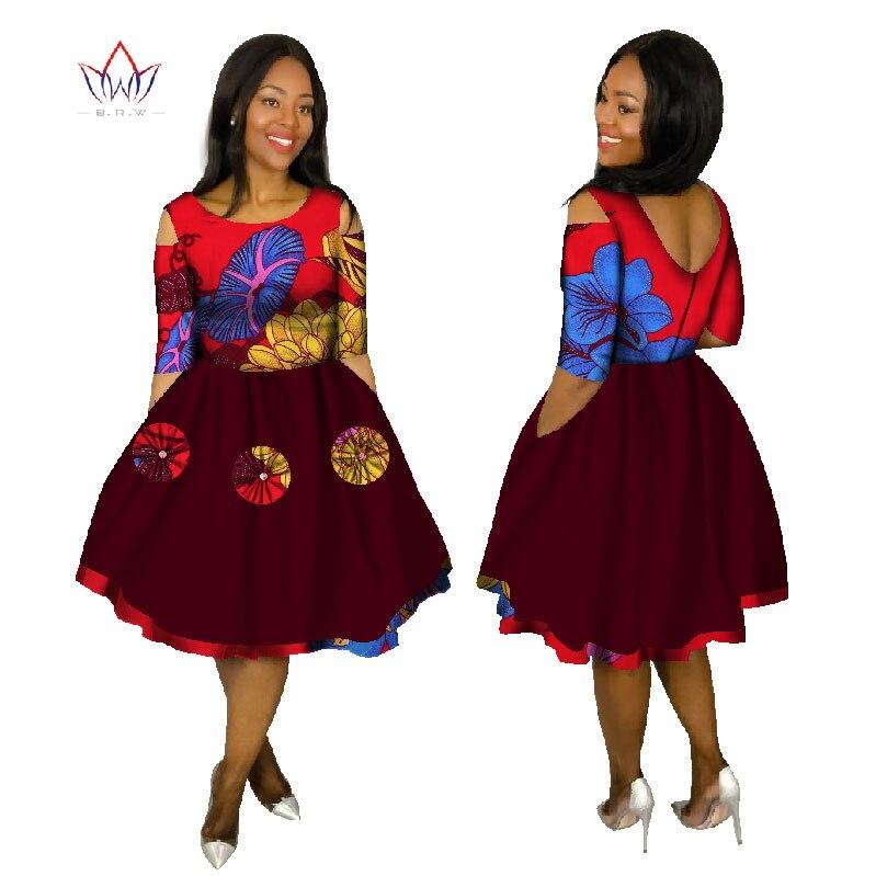 Été robes De grande taille 2019 femmes mode robe 6XL Vestidos De Festa Longo o-cou tissu afrique imprimer vêtements 6xl BRW WY1503