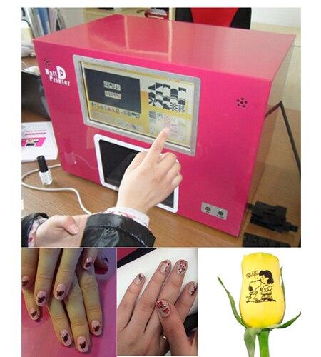 CE aprobado Computadora construir dentro de la impresora de uñas - Arte de uñas
