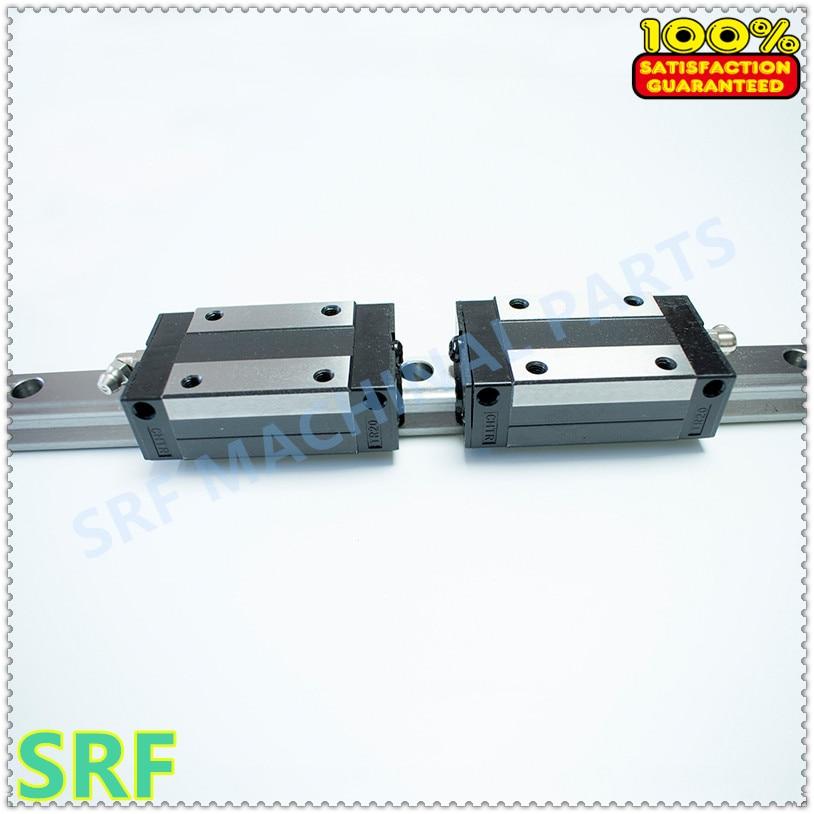 2pcs TRH35 linear guide rail +4pcs TRH35BL linear block carriage for CNC part high quality 15mm width precision linear guide rail 2pcs trh15 length 600mm 2pcs trh15b square linear block for cnc