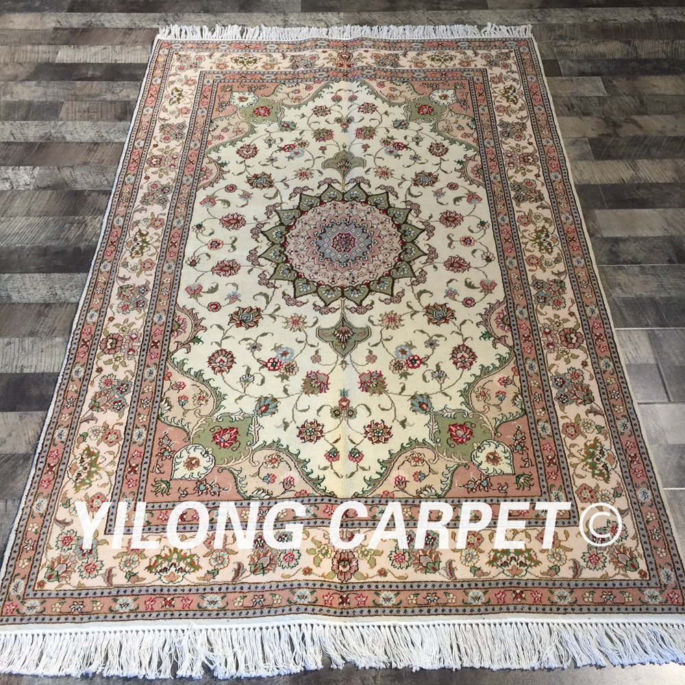 Yilong 4x6 handmade persian exquisite oriental classic area rug turkish design wool silk carpet (WY2067S4x6)Yilong 4x6 handmade persian exquisite oriental classic area rug turkish design wool silk carpet (WY2067S4x6)