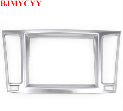 BJMYCYY For Maserati Levante 2016 Car-Styling ABS Chrome Interior Navigation box Frame Cover Trim Accessories Newest 1pc only for left hand drive interior abs gear shift box panel frame cover for audi a4 b9 2016 2017 sedan car accessories styling