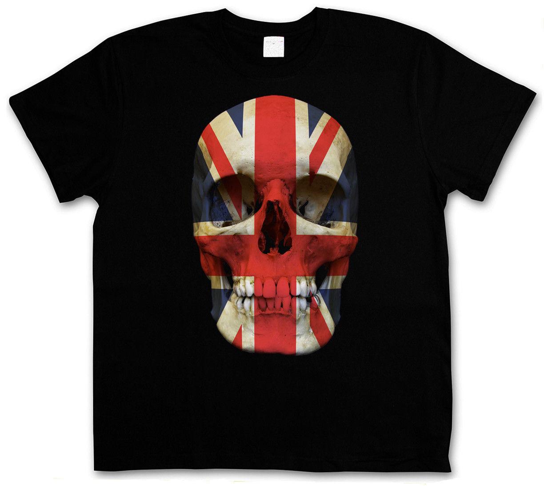 Union Jack Uk Skull Flag T Shirt Death S Head Great Britain England Mod  image 3ba78c55ff7b8