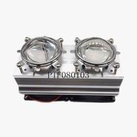 100W 200W High Power LED Heatsink cooling with fans 57mm Lens +Reflector Bracket