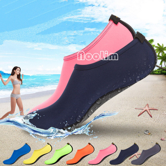 40506f3163db77 Été nouvelle Chaussure femmes chaussures d'eau Aqua pantoufles pour  Couple/amoureux plage sans