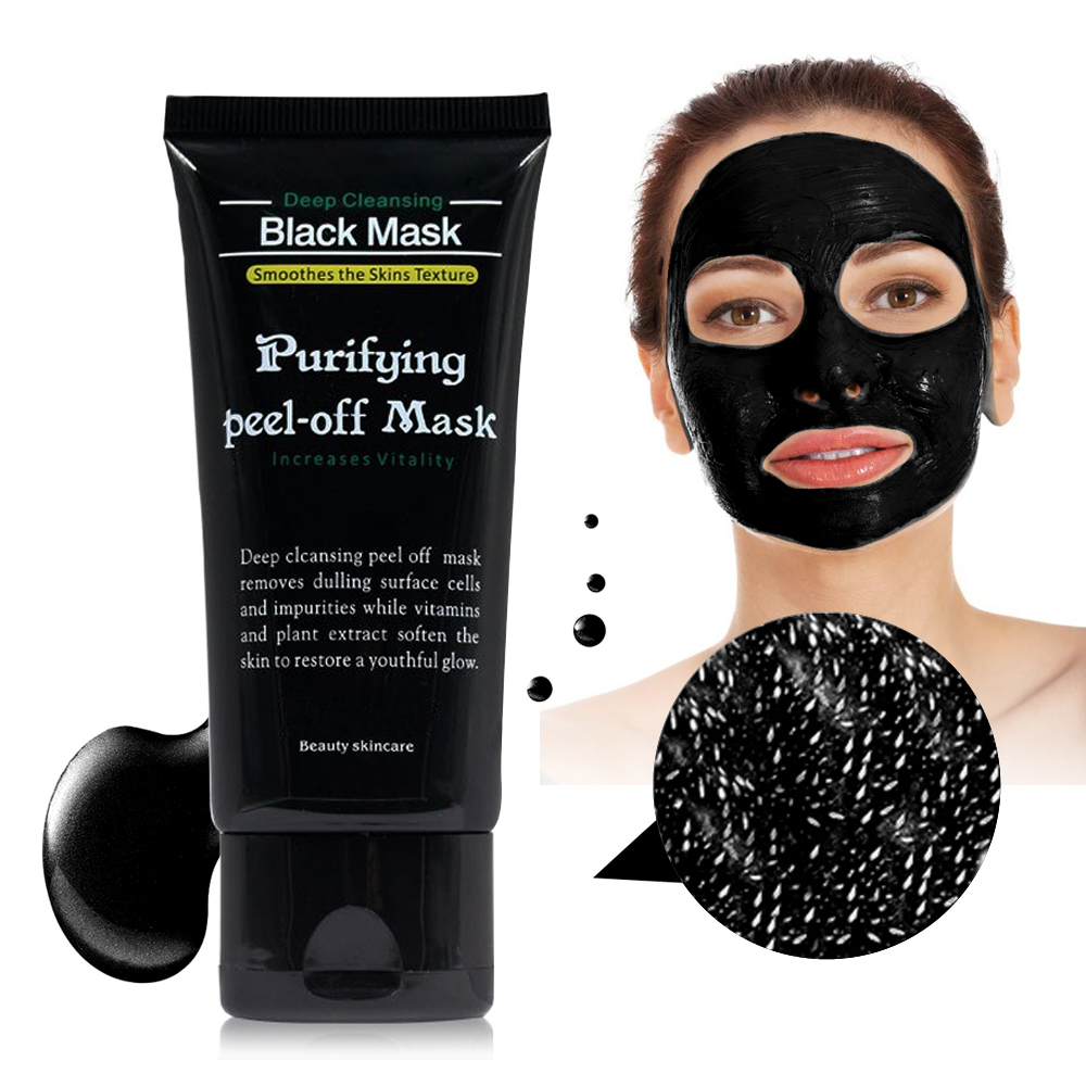 Face Care Black Mud Cleansing Suction Purifying Peel Off Facial Skin Mask Nose Blackhead Remover Acne Treatment Dropshipping