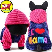 2016 Petcircle Fashion I Love Papa And Mama Winter Pet Dog Clothes Clothing For Pet Small