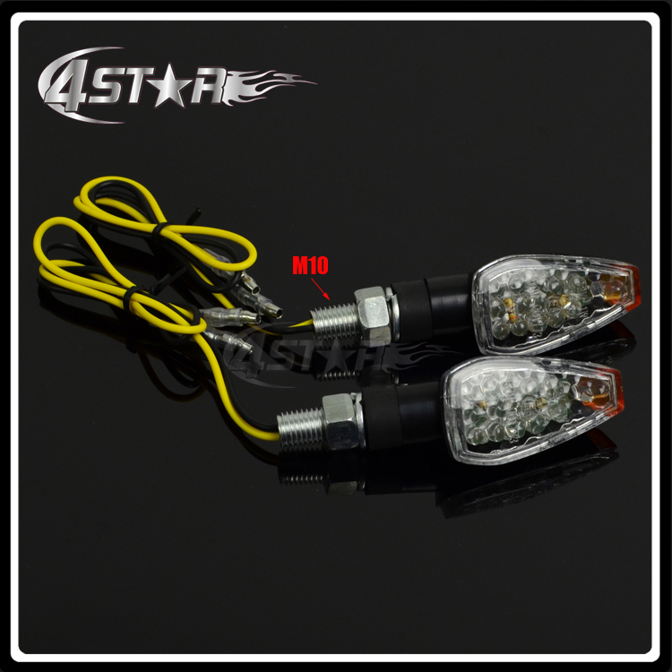10MM Universal Motorcycle LED Turn Turning Signal Direction Light For Motorcycle Dirt Pit Bike Motocross Scooter Street Bike