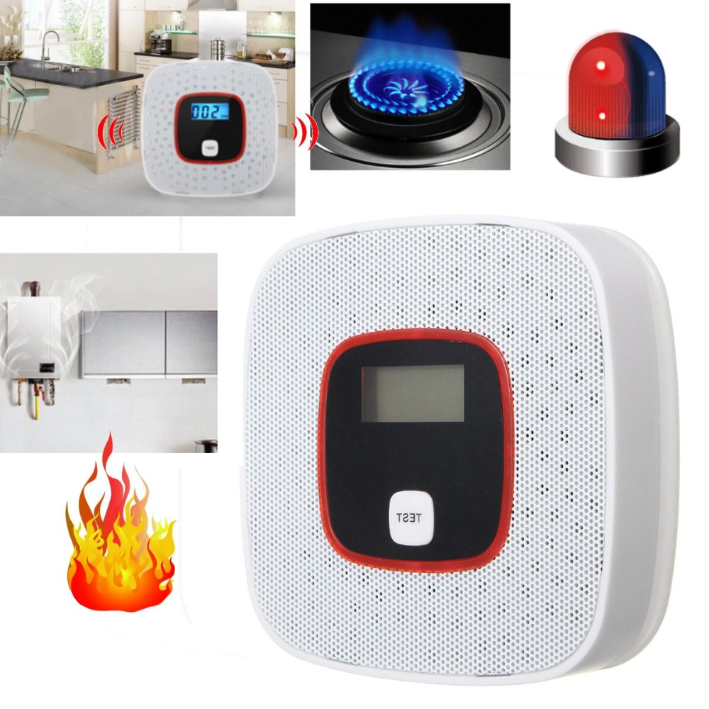 цена на Security CO detector Home Security Safety Alarm LCD Photoelectric CO Gas Sensor Carbon Monoxide Poisoning Alarm Detector