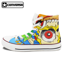 Colorful Converse Chuck Taylor Women Men Shoes Totem Design Hand Painted High Top Canvas Sneakers Boys Girls Gifts