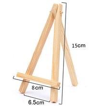 1 шт. 8*15 см мини-деревянный штатив для художника для рисования мольберт для фото открытка-картина держатель дисплея рамка милый декор стола