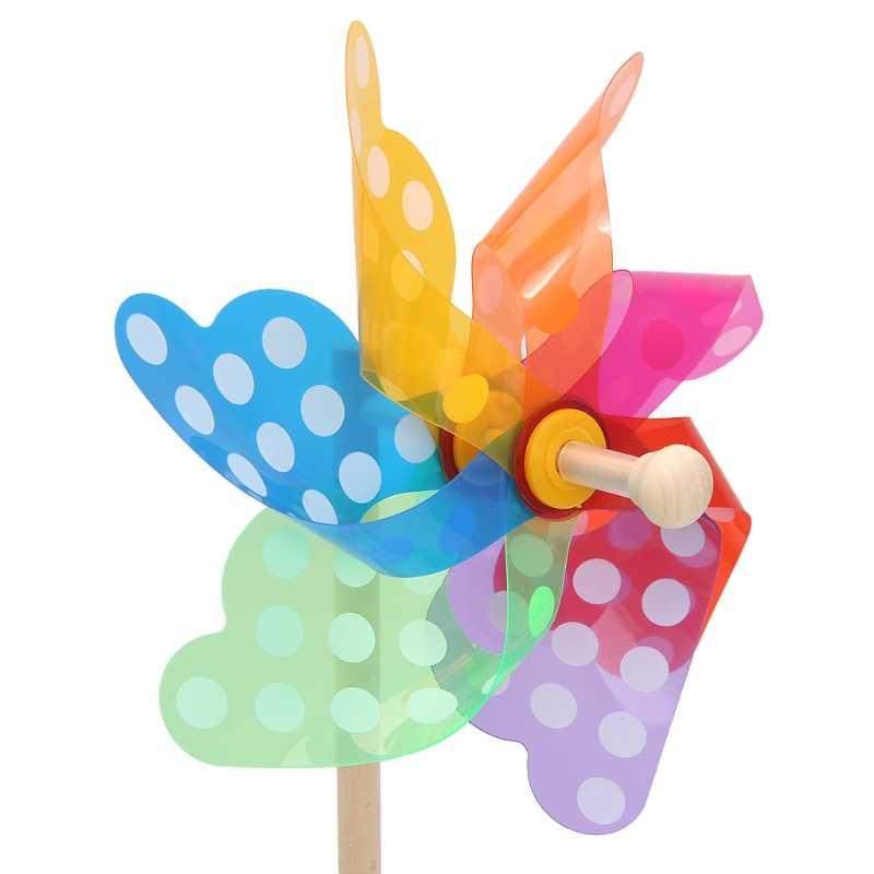 HBB красочные Pinwheel ветер Спиннер ветряная мельница для дома, сада, двора Декор детские игрушки