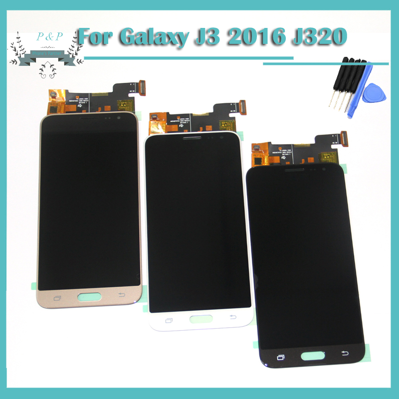 imágenes para J320 LCD Para Samsung Galaxy J3 J3 2016 J320 J320A J320F J320M Pantalla LCD Con Pantalla Táctil Digitalizador Asamblea