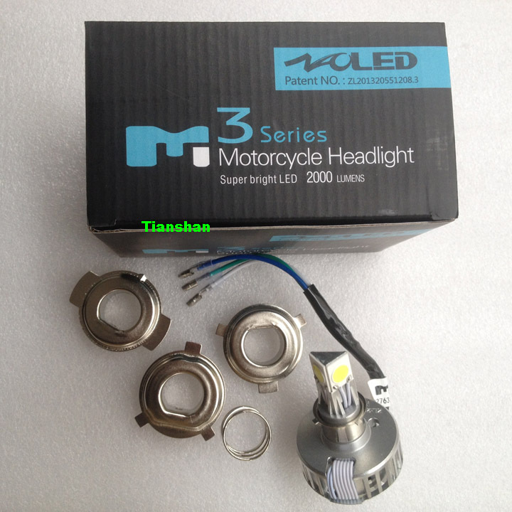 High Quality H4 18W LED Motorcycle Headlight Super Bright Bulb 2000LM 6000K 12V