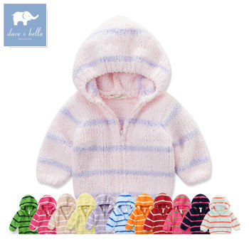 139db dave bella baby hoodies infant clothes toddle outerwear girls outerwear boys coat chenille jacket image