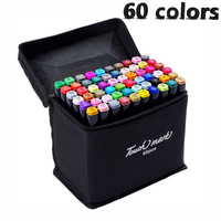 60colors Artist Double Headed Sketch Copic Marker Set 30 40 60 80 Colors Alcohol Based Manga